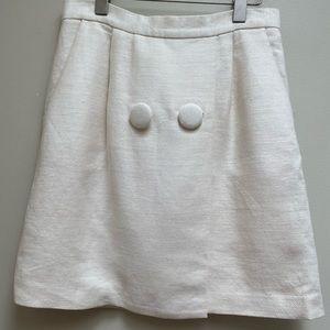 3.1 Phillip Lim Cream Linen Silk Two Button Skirt